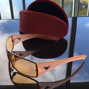 Emporio Armani peach sunglasses